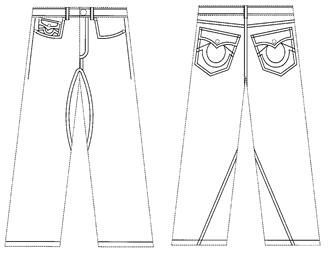 True Religion Jeans Design Patent