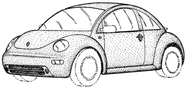 Volkswagen Beetle Car Design Patent